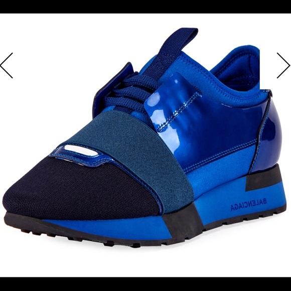 c47b8cfedb26f Buy Balenciaga Black Leather Race Runner Sneakers Size 37 135828 at ... balenciaga  race runner 37